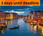 3 days until deadline